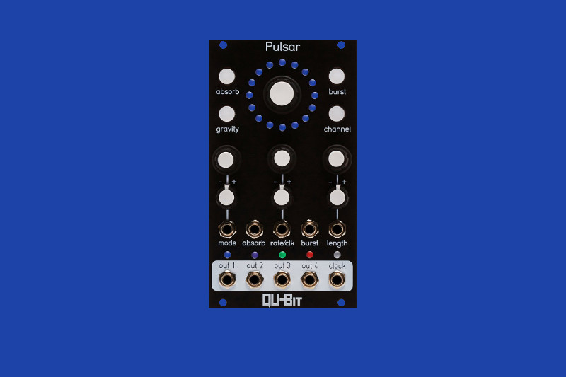 Qu-Bit's Pulsar module is a burst generator inspired by outer space