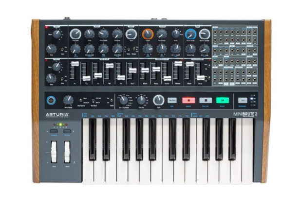 Arturia's MiniBrute 2 semi-modular analog synth has its own patch bay