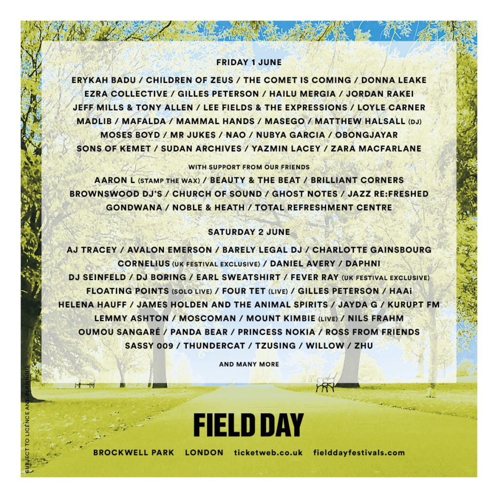 Erykah Badu, Fever Ray and more to play Field Day 2018