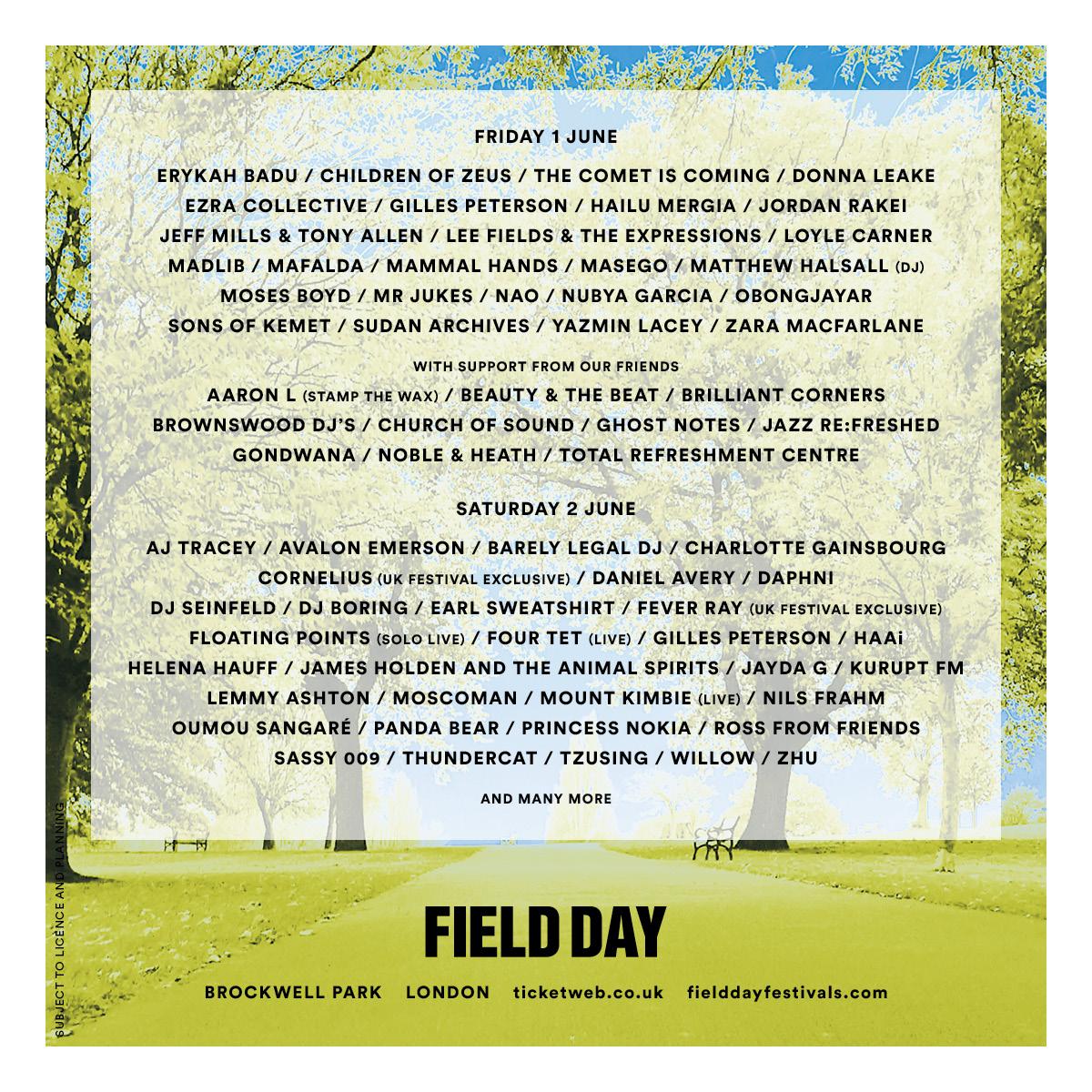 IAMDDB, Objekt, Batu join Field Day 2018 lineup