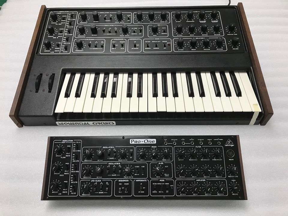 Behringer shares prototype  Sequential Circuits Pro-One clone