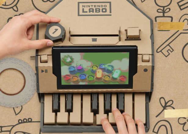 Nintendo's cardboard piano for Switch is the most exciting