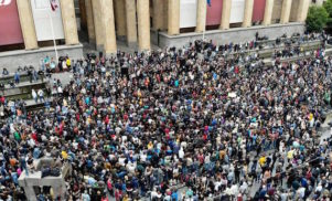 Protests in Georgia after police raid Tbilisi nightclubs Bassiani and Café Gallery