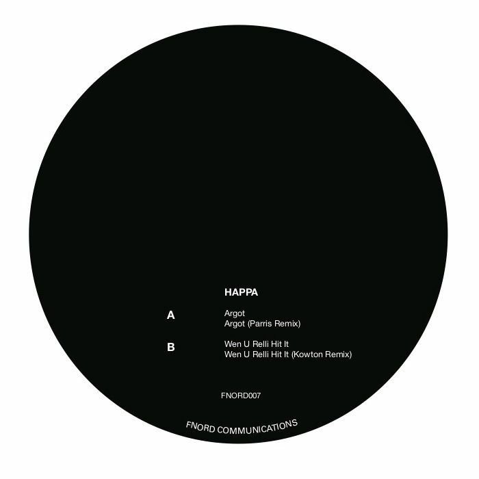 "Happa announces Argot 12"" on Fnord Communications"