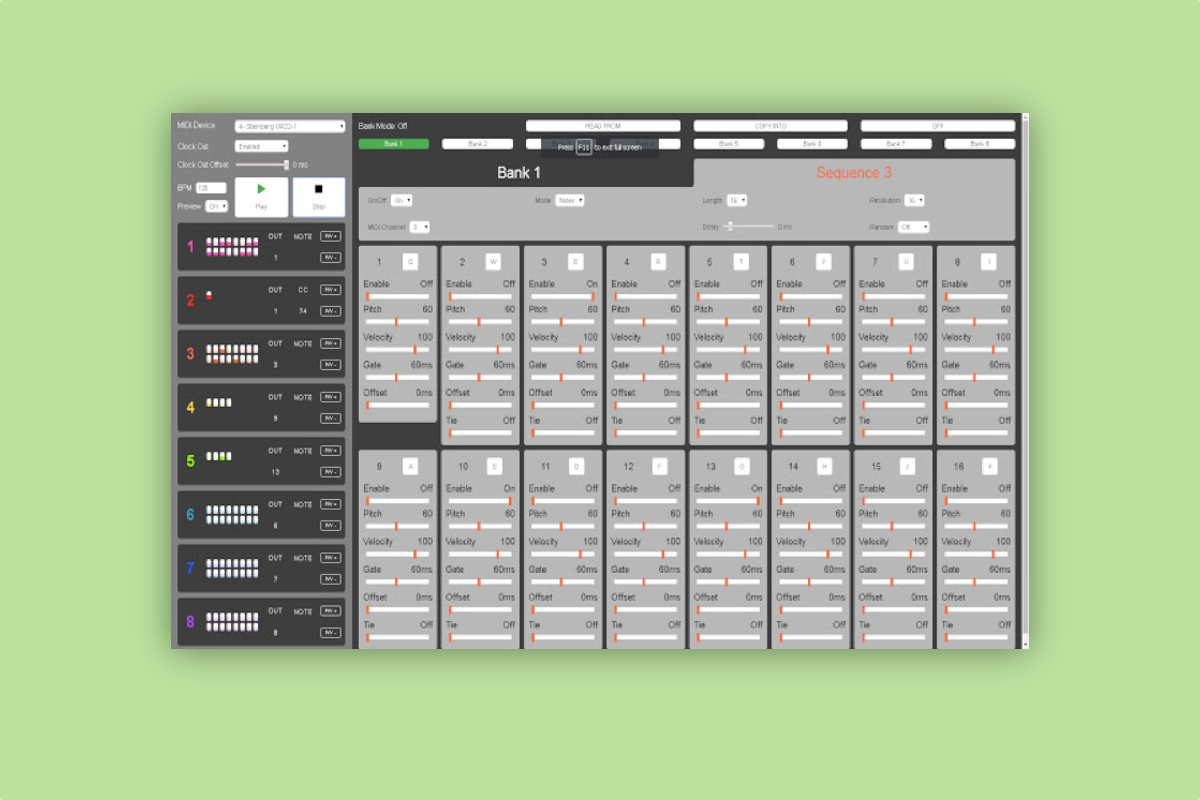 This Chrome Extension adds a MIDI sequencer to your browser