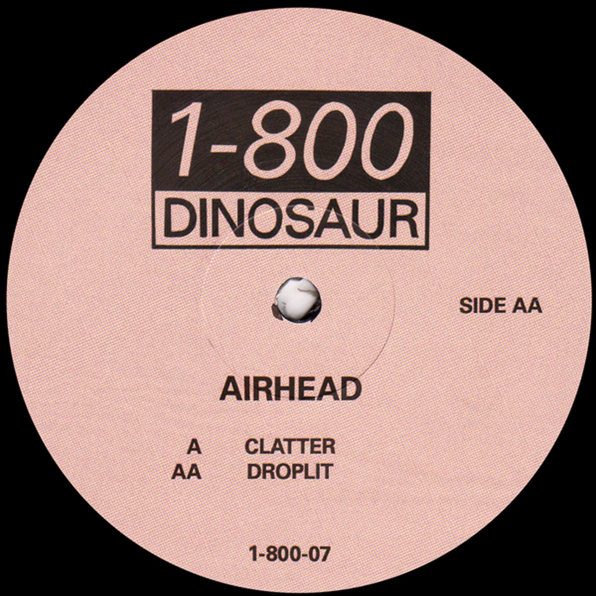 """Airhead returns to 1-800 Dinosaur with new 12"""" Clatter"""