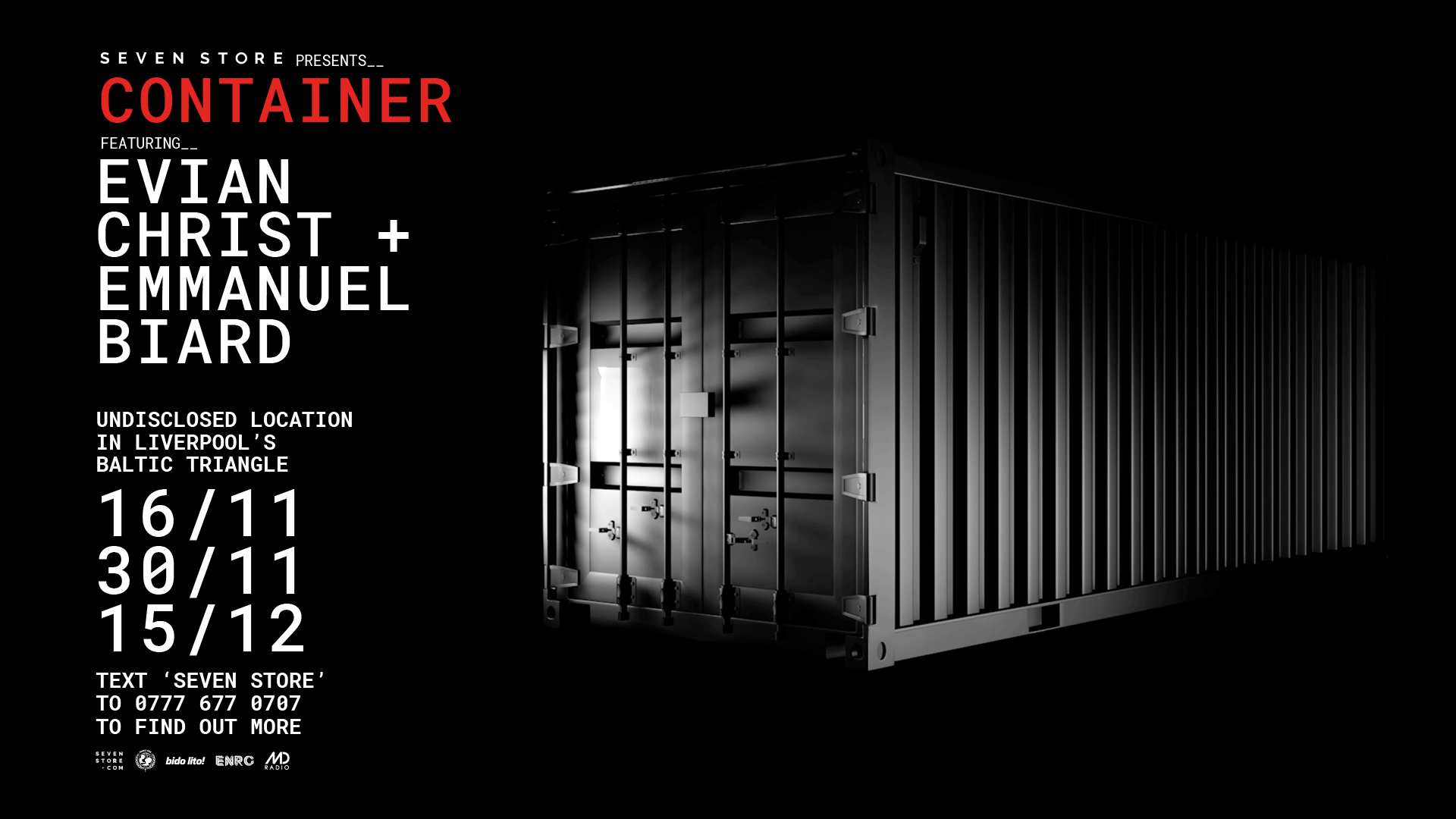 En Christ will play to 50 people in a strobe-lit shipping container