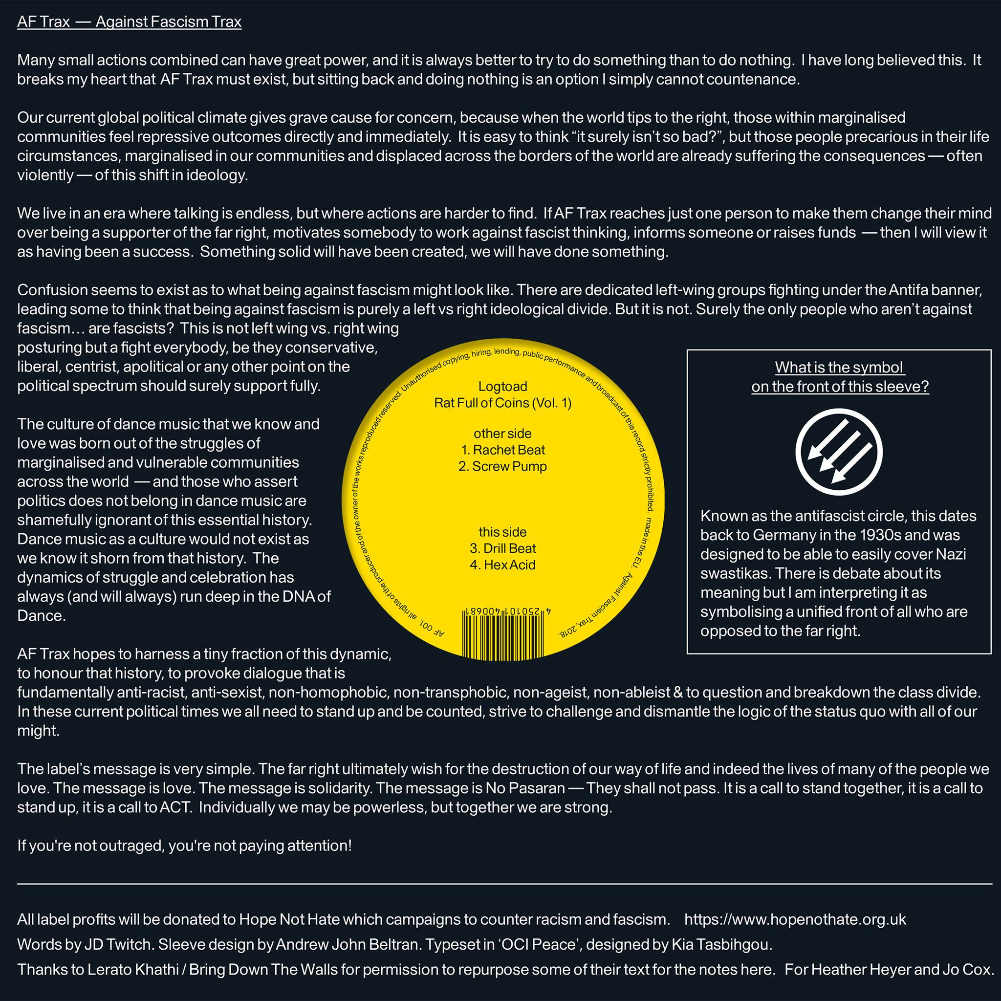 Optimo Music launches Against Fascism Trax label