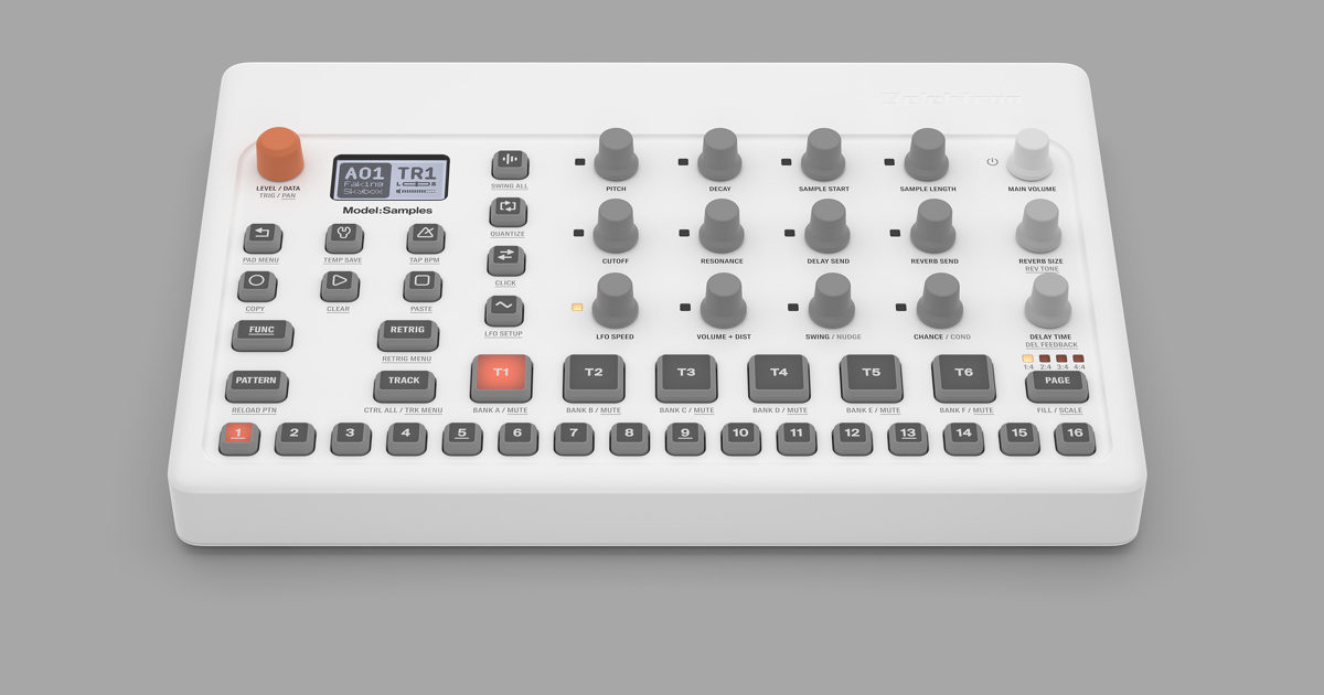 Elektron launches affordable six-track groovebox, Model:Samples