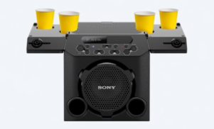 Sony's new Bluetooth party speaker has its own cup holders