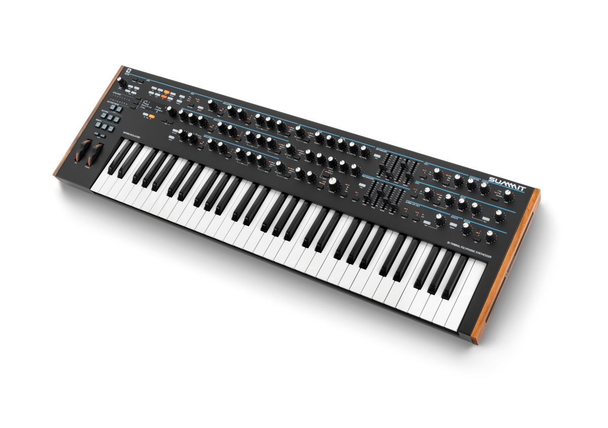 Novation's Summit polysynth lets you play two patches at the same time