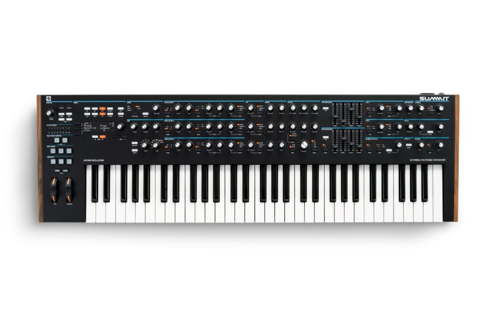 Novation's Summit polysynth lets you play two patches at the
