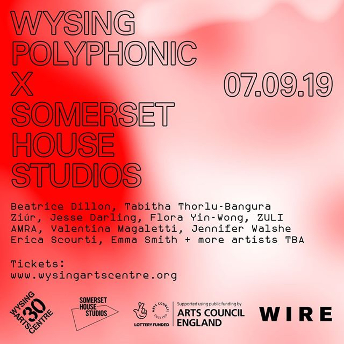 Beatrice Dillion, Ziúr and Zuli confirmed for Wysing Polyphonic 2019