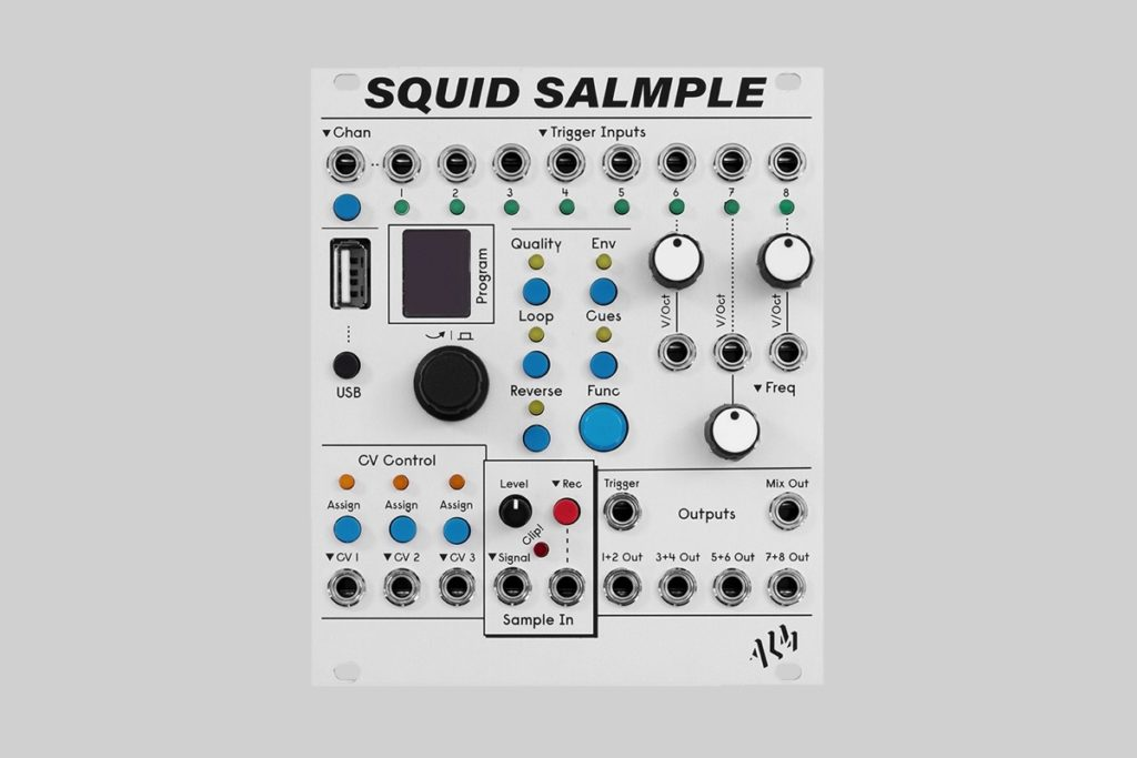 ALM releases Squid Salmple, eight-channel Eurorack sampler