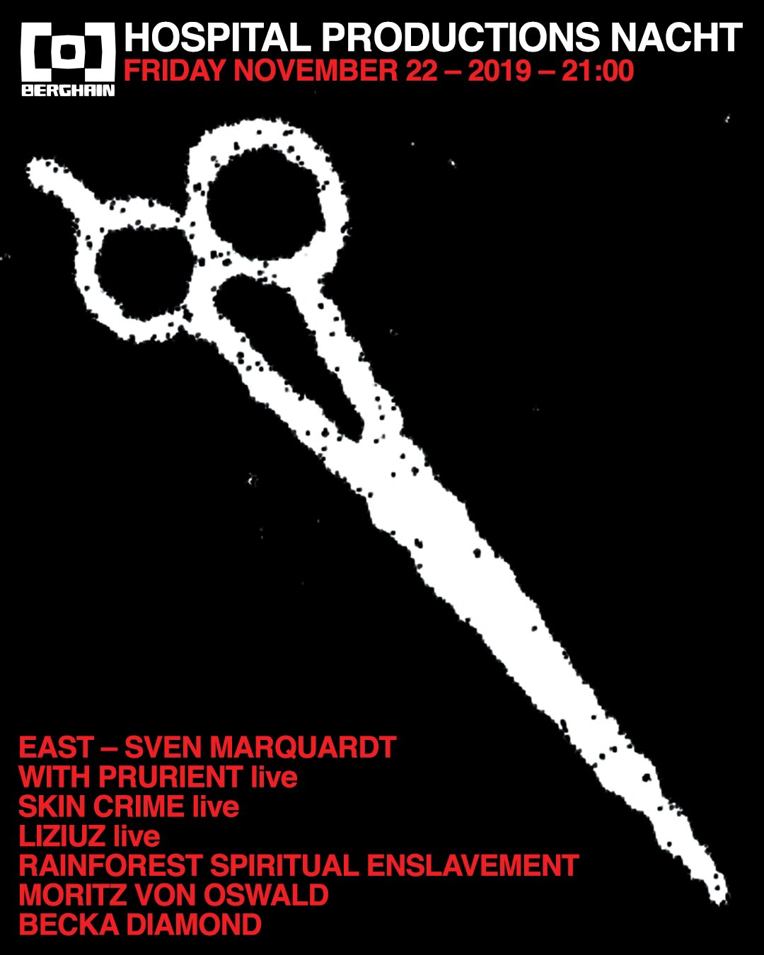 Sven Marquardt & Prurient to play Hospital Productions Nacht in Berghain
