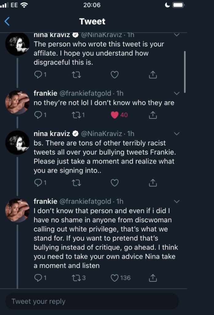 Nina Kraviz faces backlash over racist Twitter outburst