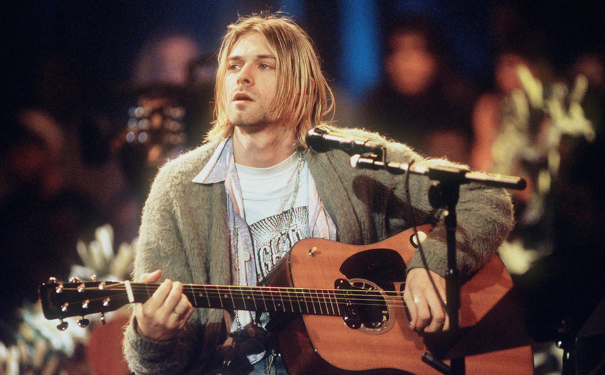 Kurt Cobain performing at MTV Unplugged