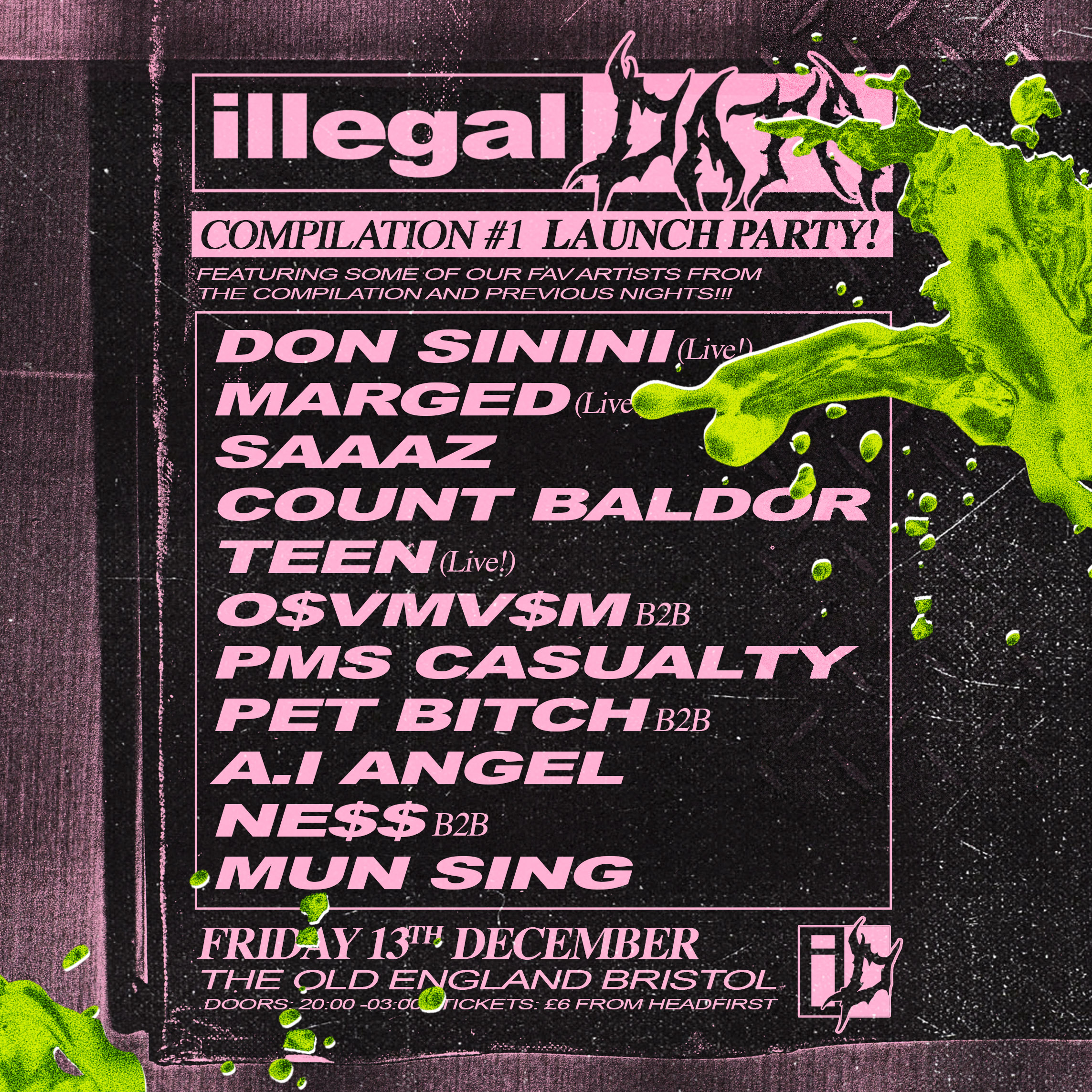 AYA, Don Sinini and L U C Y contribute to Illegal Data compilation