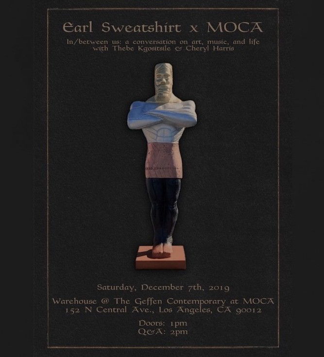 Earl Sweatshirt is hosting a public Q&A event in Los Angeles