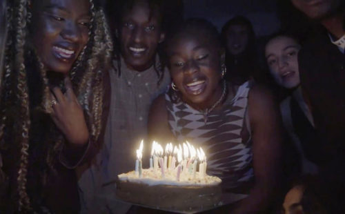 Klein throws herself a birthday party in the video for 'Claim It'