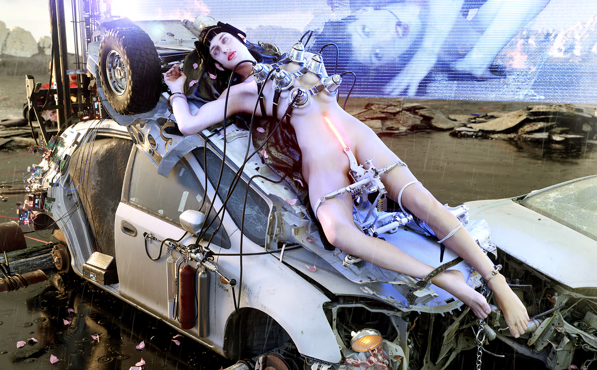 Arca broadcasts from a post-singularity pirate radio station on @@@@@