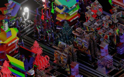 MSHR build and explore sculptural electronic systems in Liquid Conglomerate Presence Cycle
