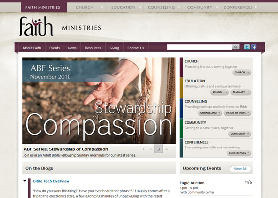 Faithlafayette.org home page
