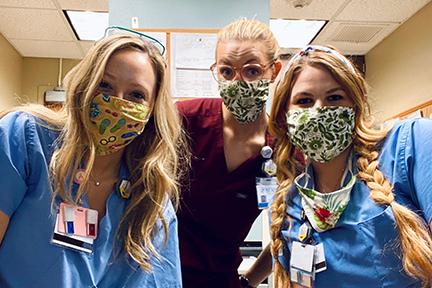 Whitni shown with fellow medical team