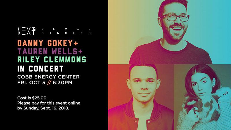 Danny Gokey + Tauren Wells + Riley Clemmons in Concert