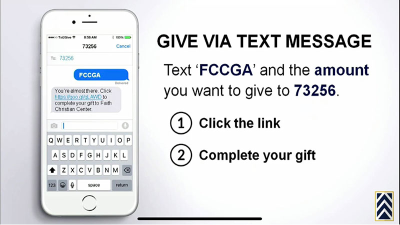 Give via Text Message