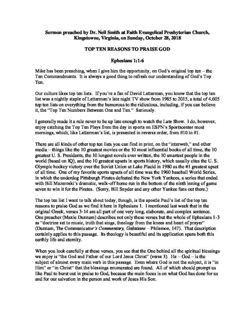 Top-Ten-Reasons-To-Praise-God pdf - Faith EPC