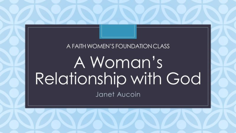 A Woman's Relationship with God