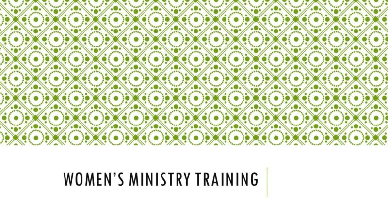 Women's Ministry Training