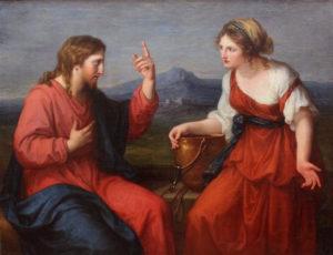 Living water: Christ And The Samaritan Woman At The Well by Angelica Kauffman, 1796 [Neue Pinakothek, Munich]