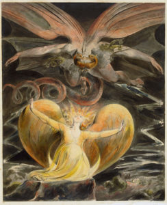 The Great Red Dragon and the Woman Clothed in the Sun by William Blake, c. 1810 [National Gallery of Art, Washington, DC]