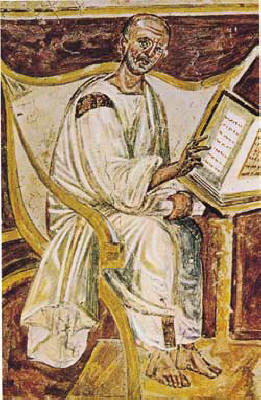 Earliest known portrait of Augustine, 6th-century fresco [Lateran, Rome]