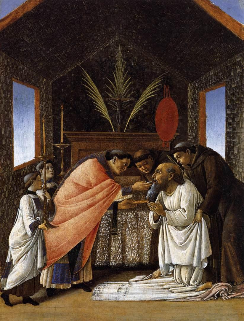 The Last Communion of St. Jerome by Botticelli, 1495 [Metropolitan Museum, New York]