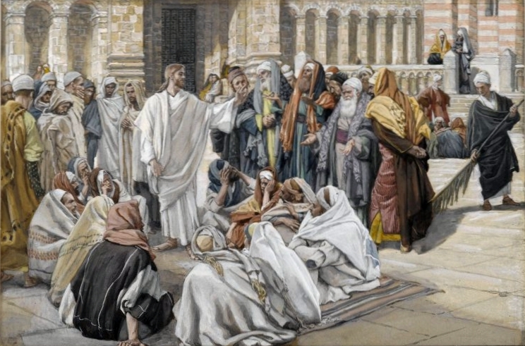 The Pharisees Question Jesus by James J, Tissot, c 1890 [Brooklyn Museum]