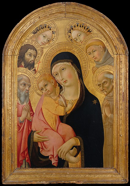 Madonna and Child by Sandro di Pietro, c. 1470 [The Met. NYC]
