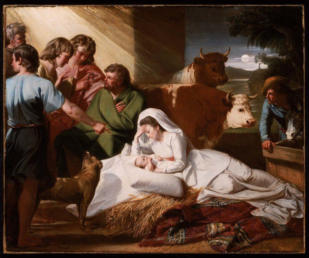 The Nativity by John Singleton Copley, c. 1776 [Museum of Fine Arts, Boston]