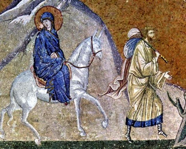 Journey to Bethlehem (c. 1320) [Church of the Holy Spirit, Chora, Turkey]