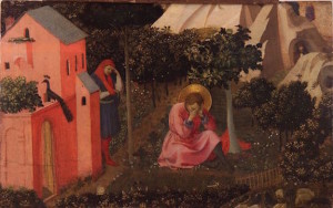 The Conversion of St. Augustine by Fra Angelico, c. 1430 [Musée des beaux-arts Thomas-Henry, Cherbourg-Octeville, France]