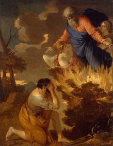 Burning Bush by Sébastien Bourdon, c. 1644 [Hermitage, St. Petersburg]