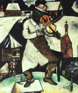 """Le Violoniste"" by Marc Chagall, 1912 [Stedelijk Museum, Amsterdam]"