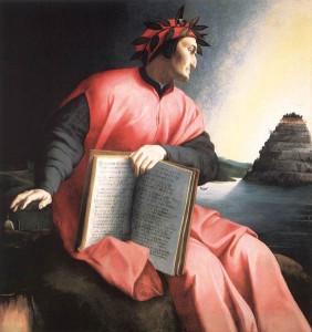 Dante gazes at Mount Purgatory by Agnolo Bronzino, c. 1530 [National Gallery of Art, Washington, D.C.]