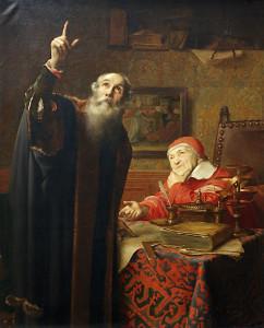 Galileo (and Urban VIII) by Edmond van Hoven, c. 1885 [Groeningemuseum, Bruges]