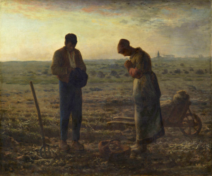 The Angelus by Jean-François Millet, c. 1858 [Musée d'Orsay, Paris]