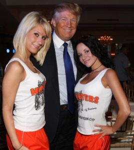 Trump with supporters