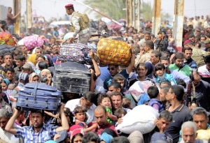 May 2015: Refugees fleeing ISIS in Ramadi, Iraq