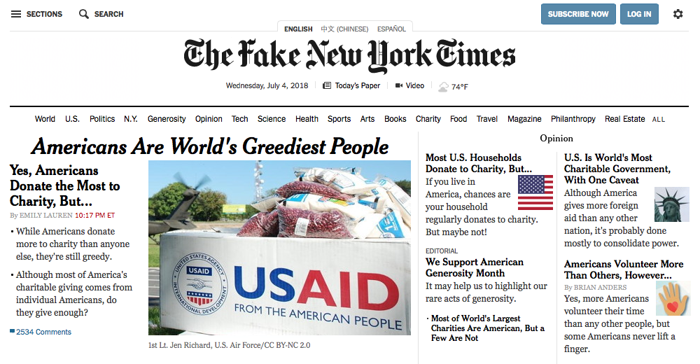 Fake New York Times 1